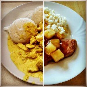 Kuracie kúsky s ananásovou omáčkou - porovnanie reštaurácia a domáce