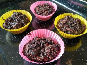 Zdravé čokoládové muffiny z ovsených vločiek - všetky