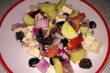 Grécky šalát s olivami