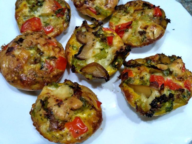 Vajíčkovo zeleninový koláč (muffiny)
