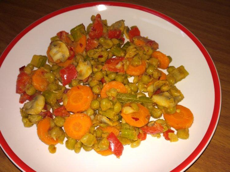Čínsky zeleninový wok - nízkotučná večera