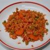 Pikantná ryža s hráškom