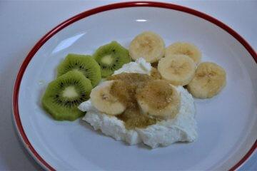 Tvarohový kiwi tanier