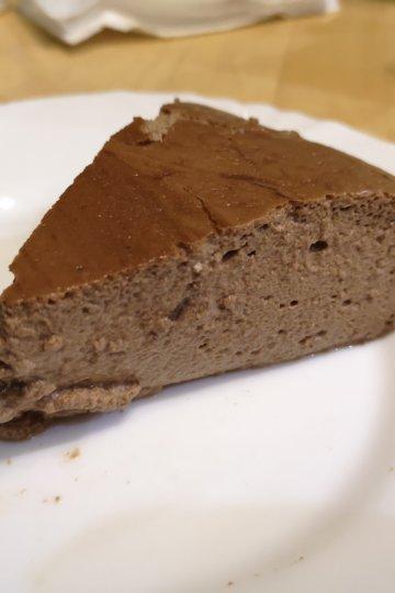 Čokoládovo tvarohový lowcarb koláč