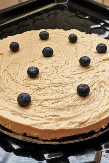 Arašidovo kakaový lowcarb koláč