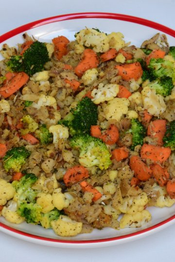 Zeleninové rizoto s treskou