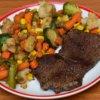 Pečené hovädzie mäso so zeleninou