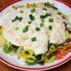 Orientálna zeleninová zmes so syrovou omáčkou