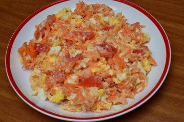 Vajíčkový šalát z bielej reďkovky