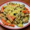 Zeleninové rizoto s mrkvou, cuketou a šampiňónmi