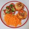 Grilovaný hermelín so zeleninou